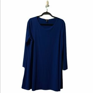 Eileen Fisher Blue 3/4 Sleeve Tunic